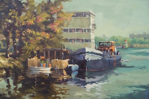 Havenkwartier Deventer, 120 x 80 cm., €2400,-